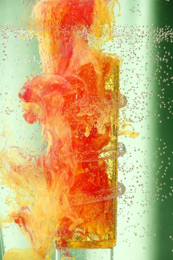 液体抽象的颜色 库存图片