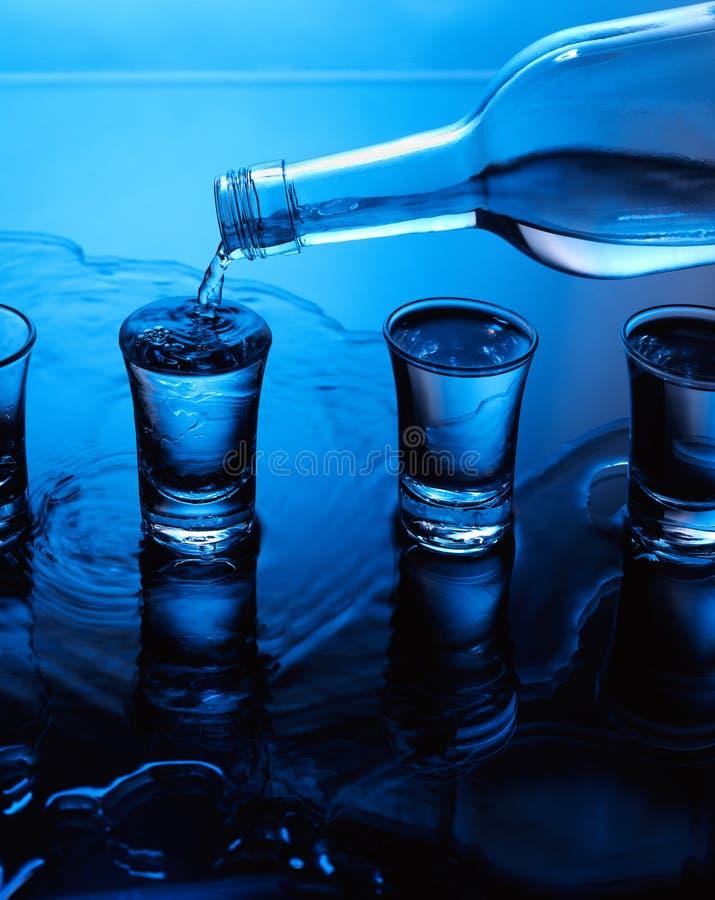 液体溢出 库存图片