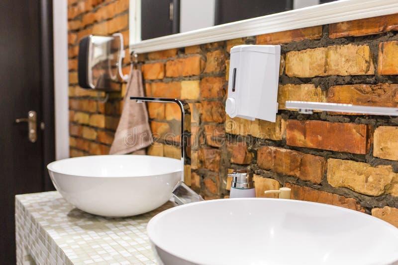 液体皂的分配器 库存图片