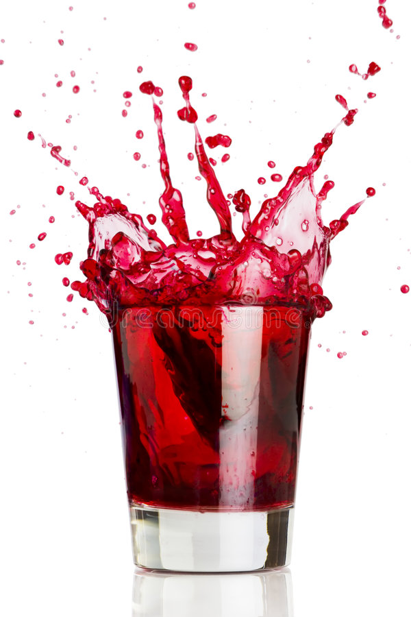 液体红色飞溅 图库摄影