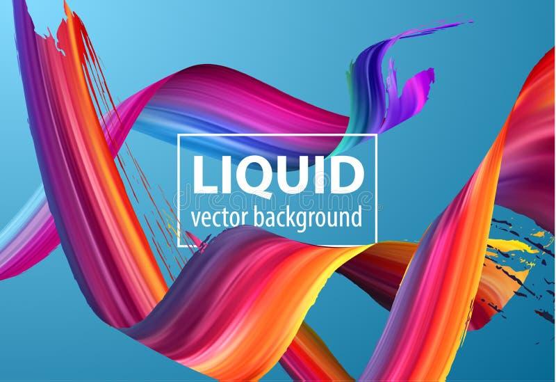 液体设计刷子螺旋 向量背景 EPS10 向量例证