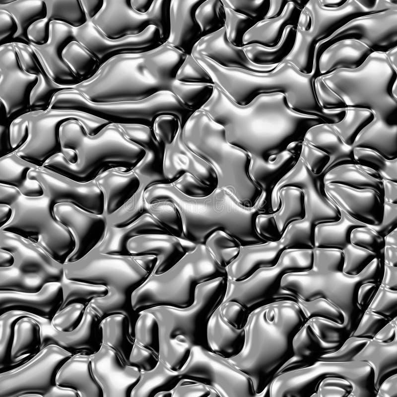 液体金属无缝的纹理  五颜六色的荧光的背景由交织弯曲的形状制成 例证 库存图片