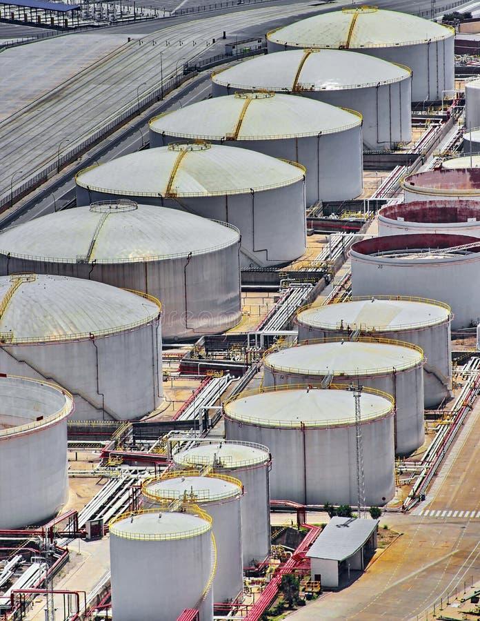 液化天然气坦克 免版税库存照片
