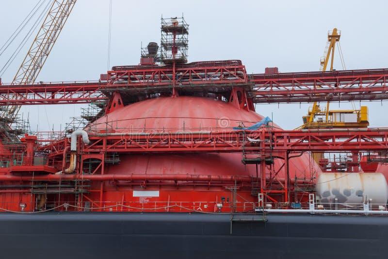 液化天然气容器 库存照片