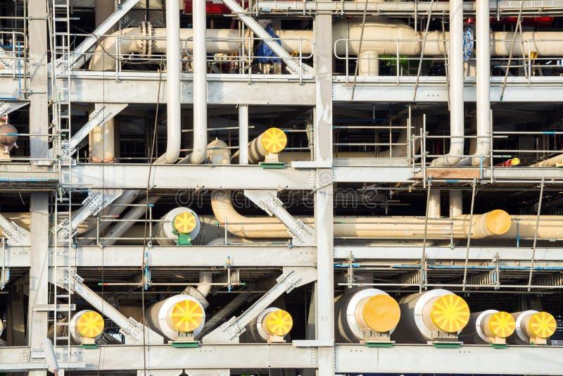 液化天然气工厂 免版税库存照片