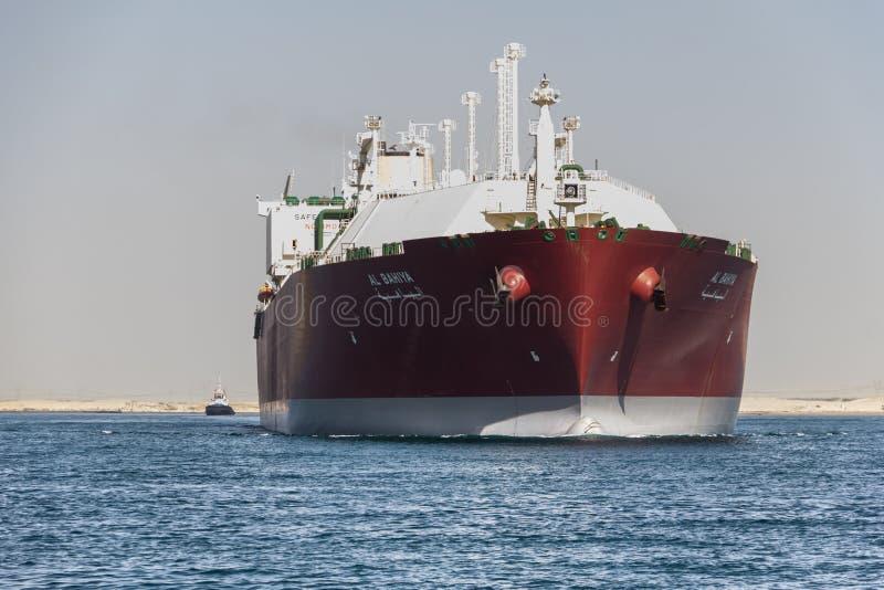 液化天然气船提供天然气 图库摄影