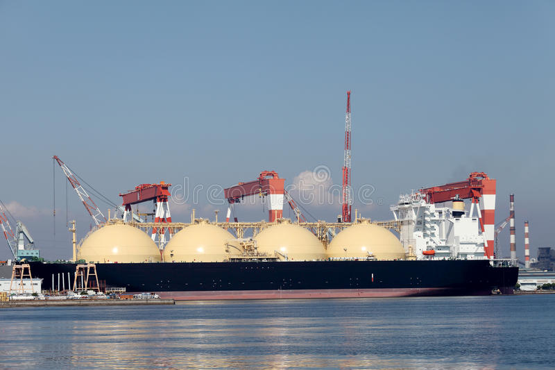 液化天然气货船 免版税库存图片