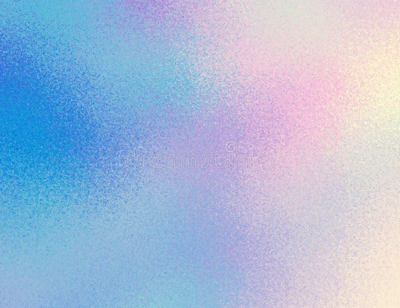 淡光天空幻想摘要样式 毛玻璃纹理 蓝色粉色梯度背景 免版税库存图片
