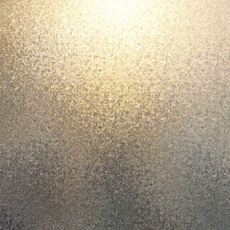 淡光金银转折摘要背景 Defocused闪烁的纹理 免版税库存图片