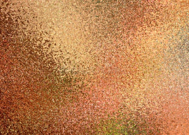 淡光金黄抽象背景 老概略的纹理 库存例证