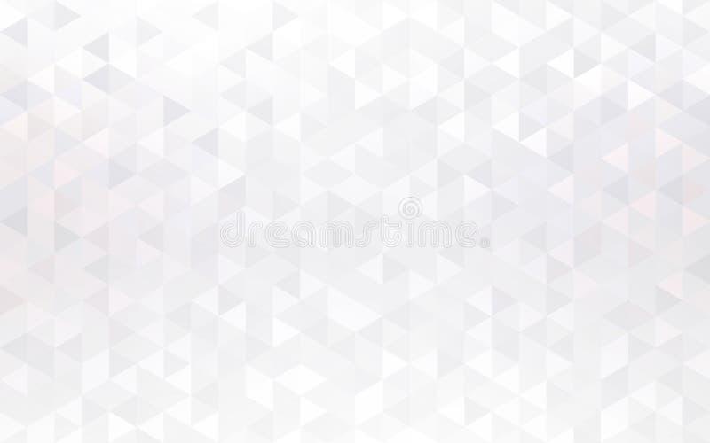 淡光cristals趋向背景 光华三角马赛克例证 白色淡光几何抽象 皇族释放例证