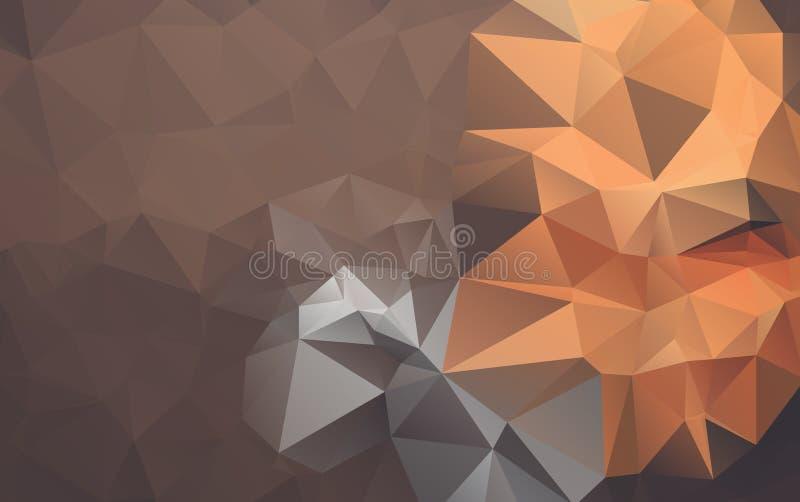 淡桔色的传染媒介多角形例证,包括三 向量例证