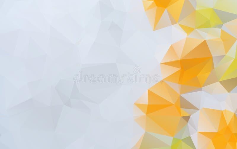 淡桔色的传染媒介多角形例证,包括三 库存例证