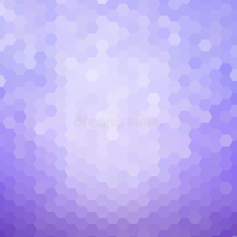 淡紫色六角形 r 介绍布局 E 向量例证