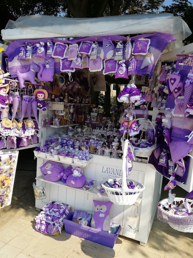 淡紫色商店 库存照片