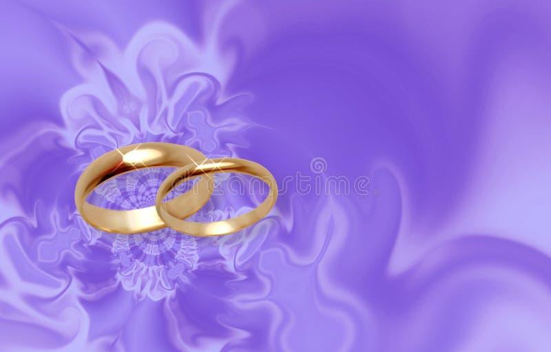 淡紫色材料敲响婚礼 皇族释放例证