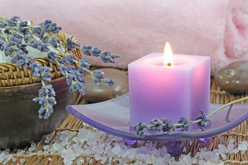 淡紫色温泉 免版税库存图片