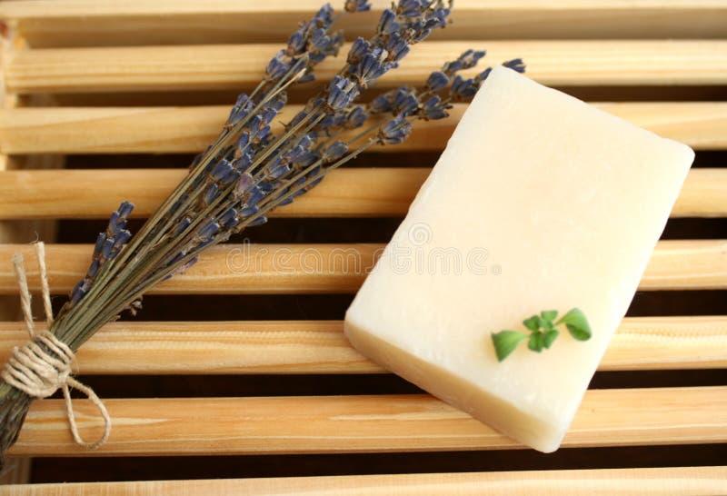 淡紫色肥皂 库存图片