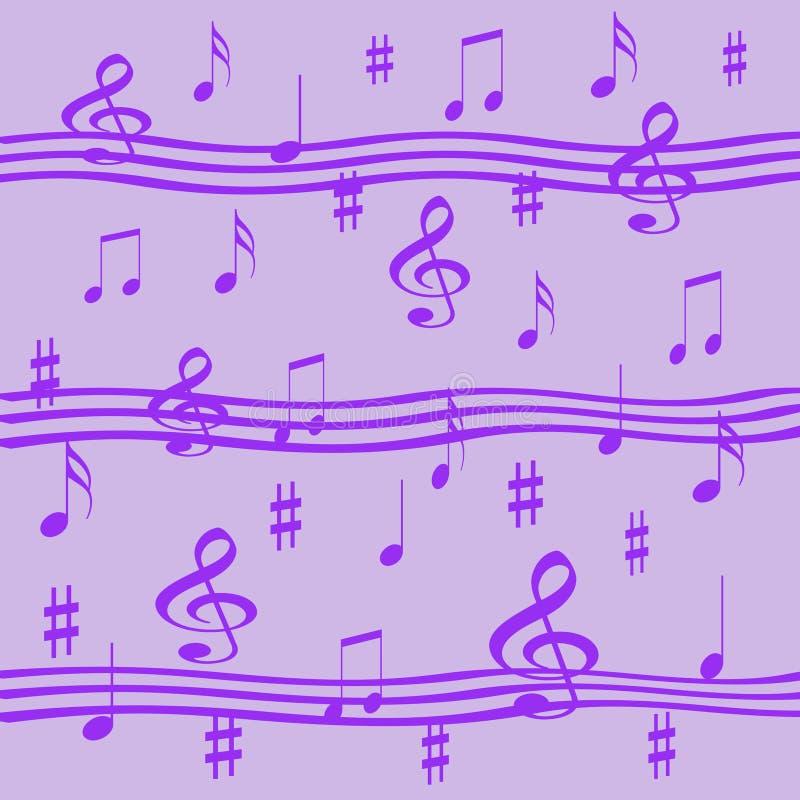 淡紫色音乐 皇族释放例证