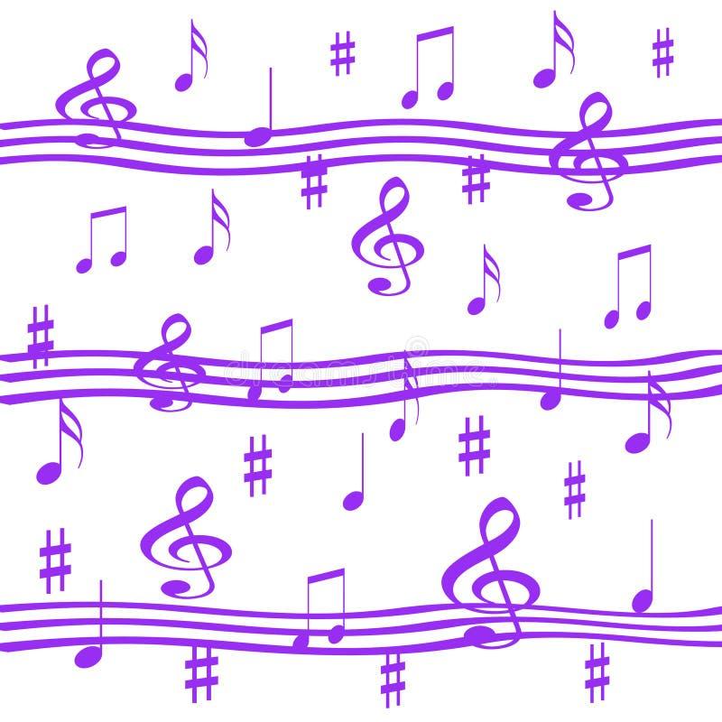 淡紫色音乐 库存例证