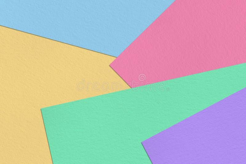 淡色五颜六色的纸软的背景 库存图片