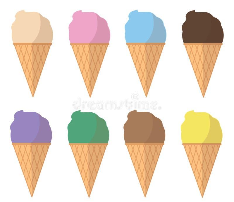 淡色冰淇凌动画片传染媒介 皇族释放例证