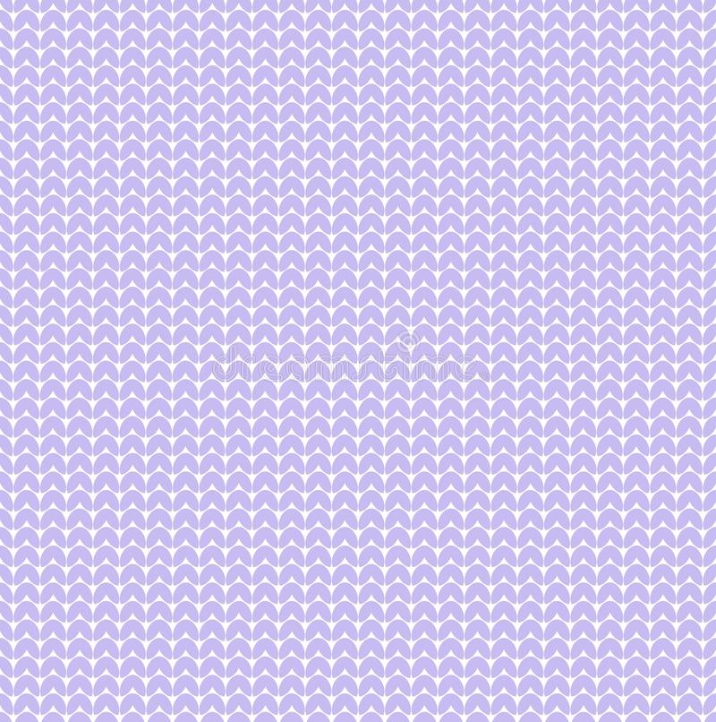 淡色紫罗兰色淡紫色传染媒介编织了心脏毛线衣纹理样式bakground 向量例证