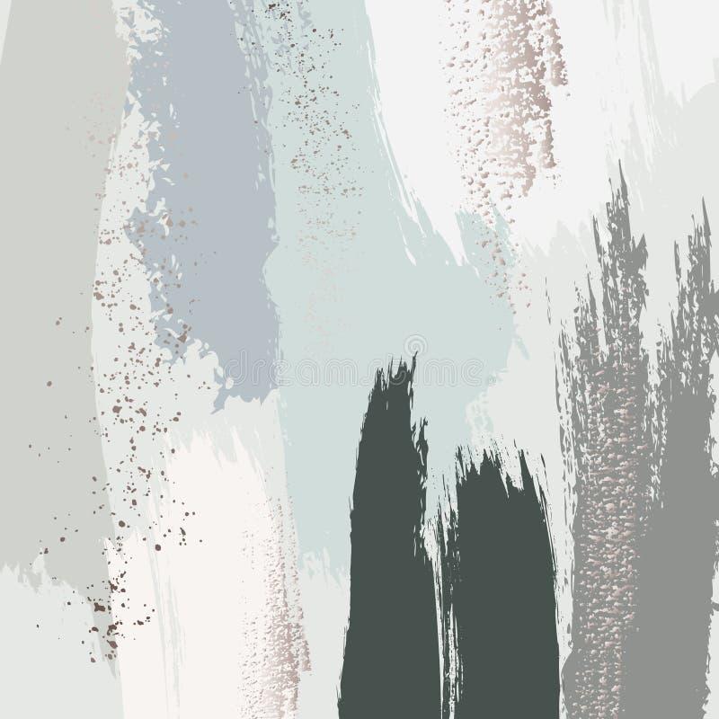 淡色绿色灰色闪烁样式 掠过冲程淡色传染媒介大理石纹理 可适用为设计盖子,介绍 向量例证