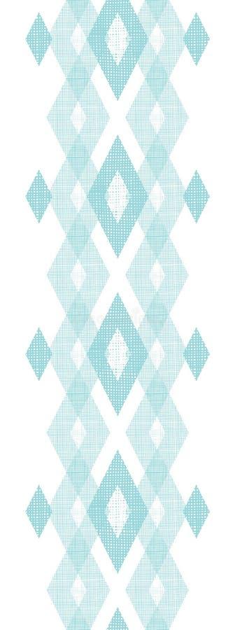 淡色蓝色织品ikat金刚石垂直无缝 库存例证