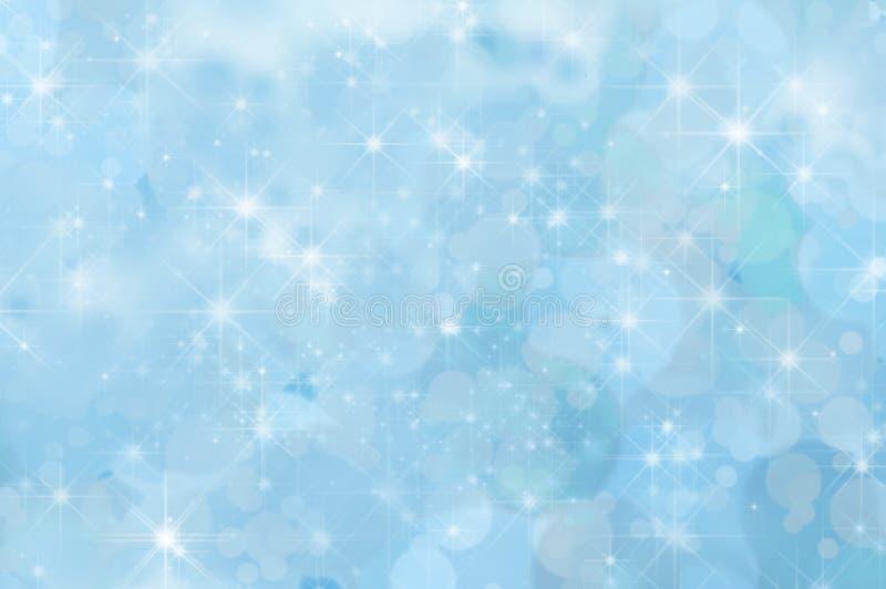 淡蓝的抽象星背景 皇族释放例证