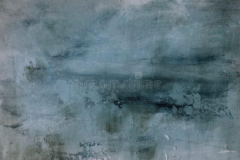 淡蓝的脏的绘画背景或纹理 免版税库存照片