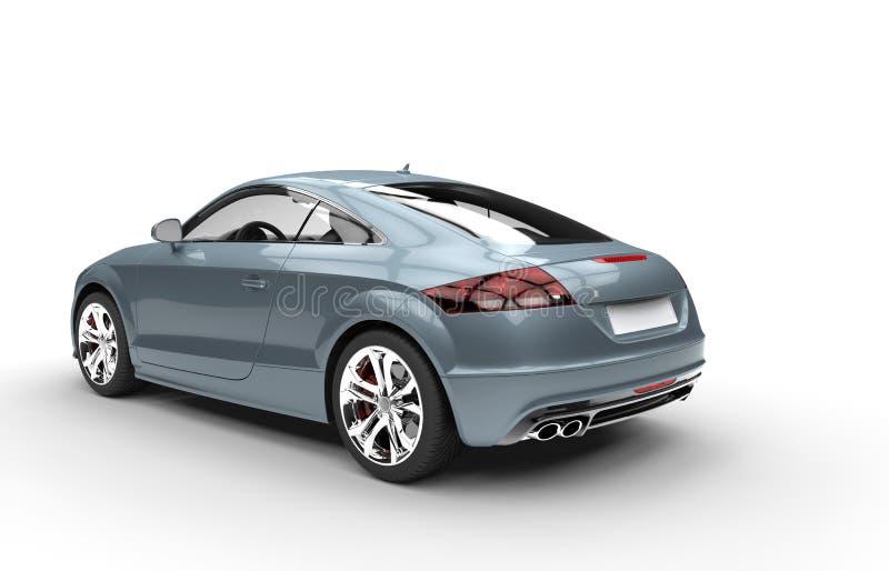 淡蓝的金属车的后面看法 皇族释放例证
