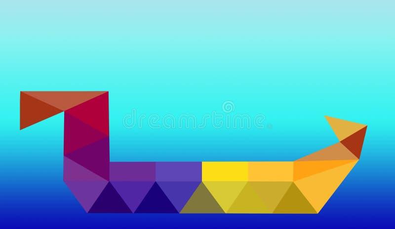 淡黄色多角形例证,包括三角 几何的背景 皇族释放例证