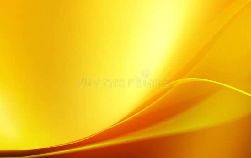 淡黄色波浪抽象背景 库存图片