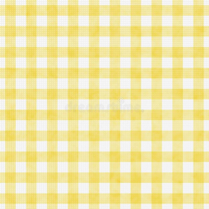 淡黄的方格花布样式重复背景 免版税库存图片