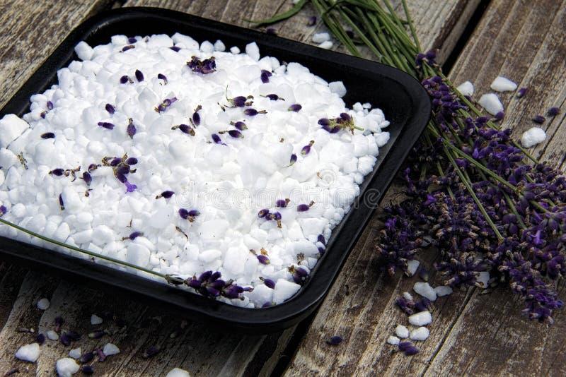 淡紫色和海盐 图库摄影