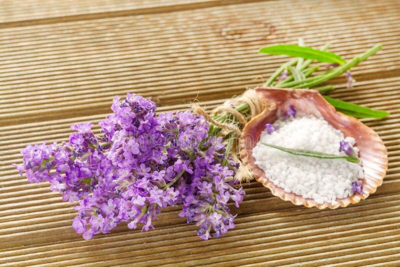 淡紫色捆绑和腌制槽用食盐 图库摄影