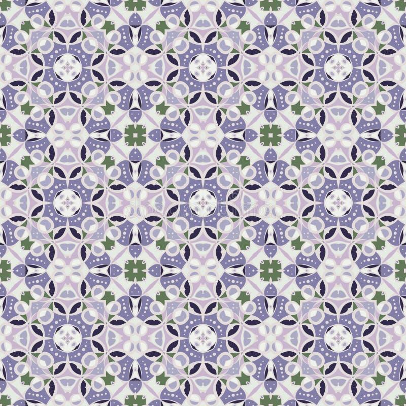 淡紫色无缝的样式 皇族释放例证