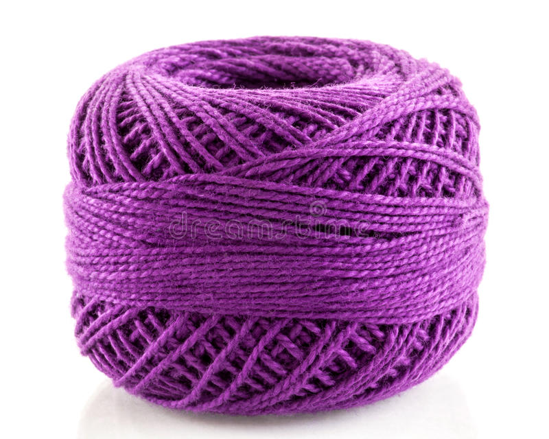 淡紫色毛线 库存照片