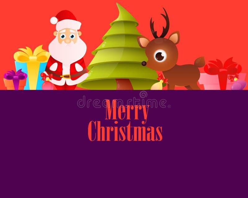淡紫色海报圣诞快乐 皇族释放例证