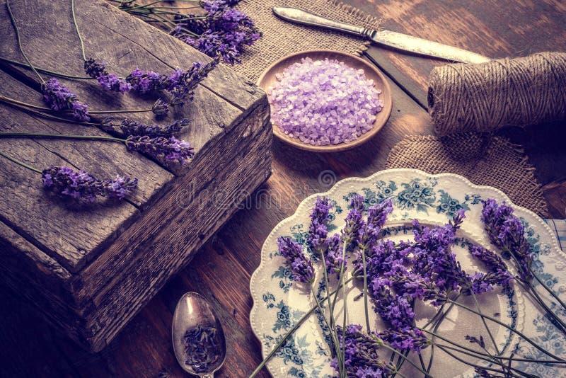 淡紫色盐 库存图片