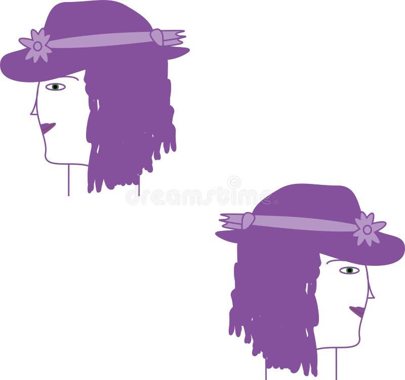 淡紫色神仙 库存例证
