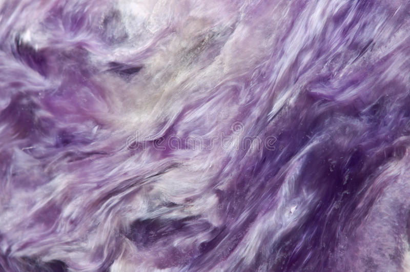 淡紫色罕见的水晶 宏指令 库存图片