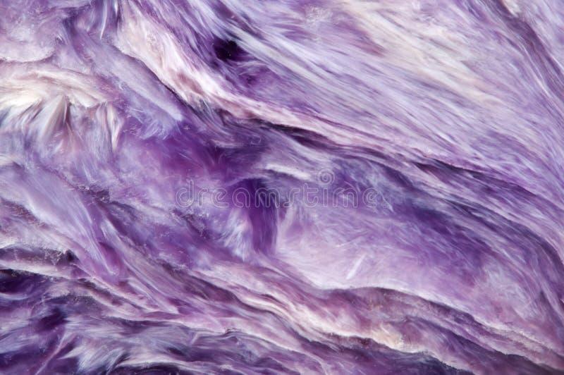淡紫色罕见的水晶 宏指令 免版税库存图片