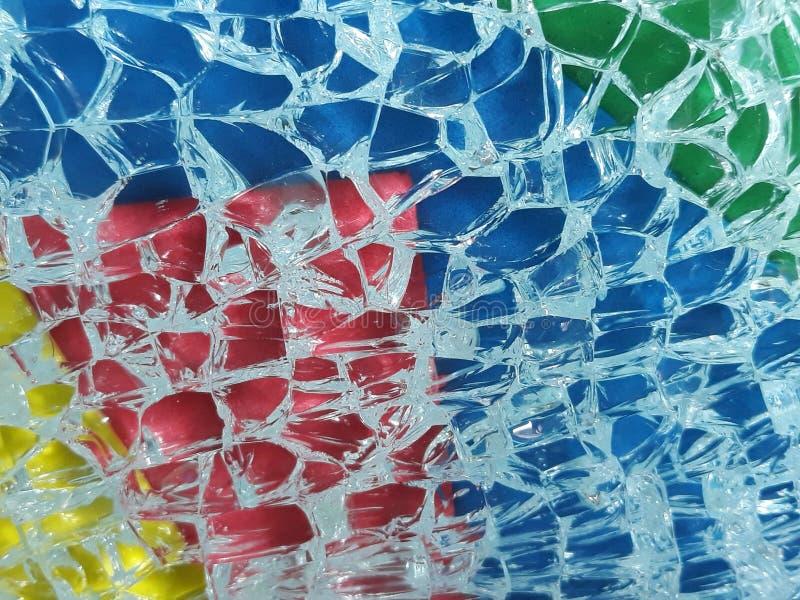 淬火玻璃打碎了 图库摄影