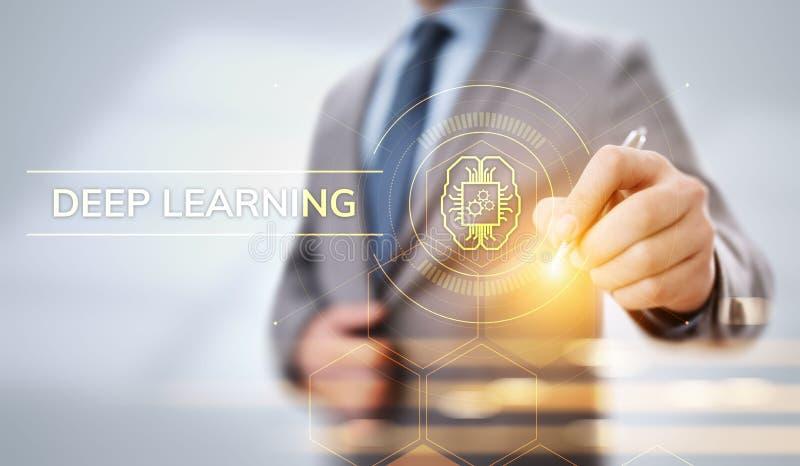 深刻的机器学习人工智能技术概念 E 向量例证