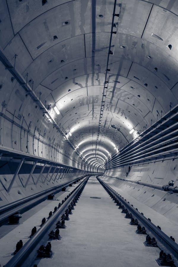 深地铁隧道 免版税库存图片