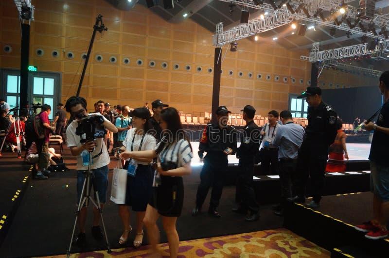 深圳大会和会展中心,式样展示场面 库存照片