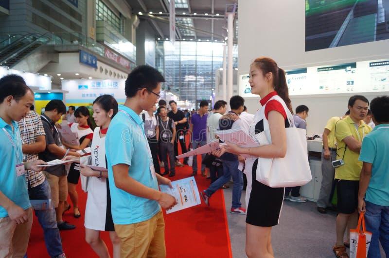 深圳大会和会展中心:发布广告传单 库存照片