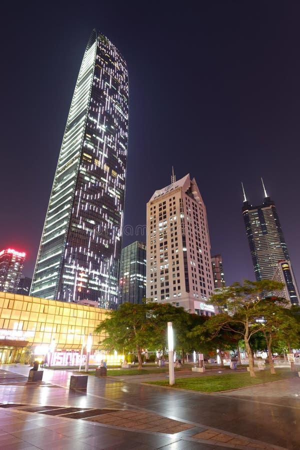 深圳市夜视域 免版税库存图片
